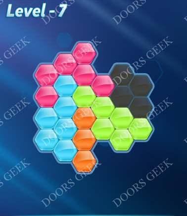 Block! Hexa Puzzle [Intermediate] Level 7 Solution, Cheats, Walkthrough for android, iphone, ipad, ipod