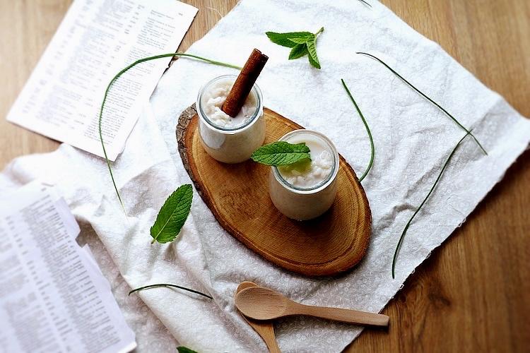 arroz dulce con horchata sin lactosa