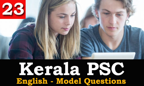 Kerala PSC - Model Questions English - 23
