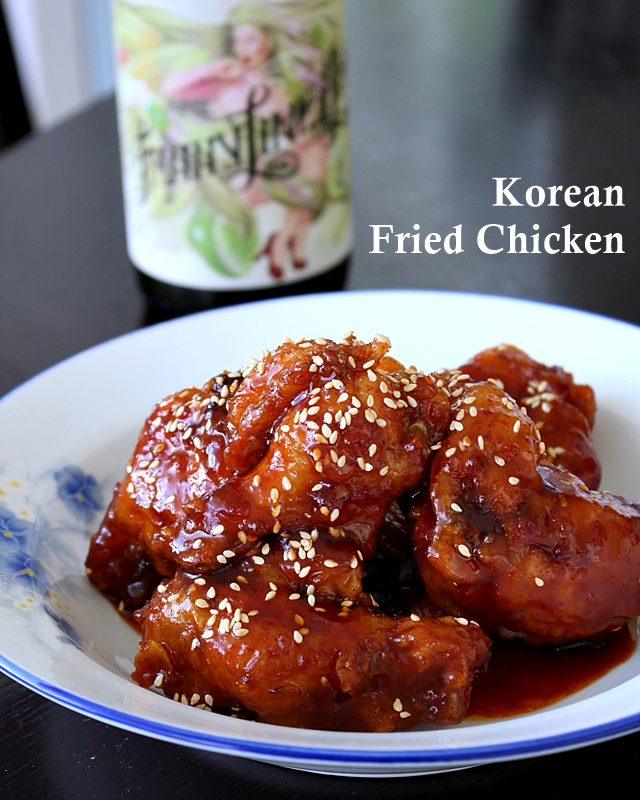... : Best Ever Korean Fried Chicken (with sweet and sticky spicy sauce