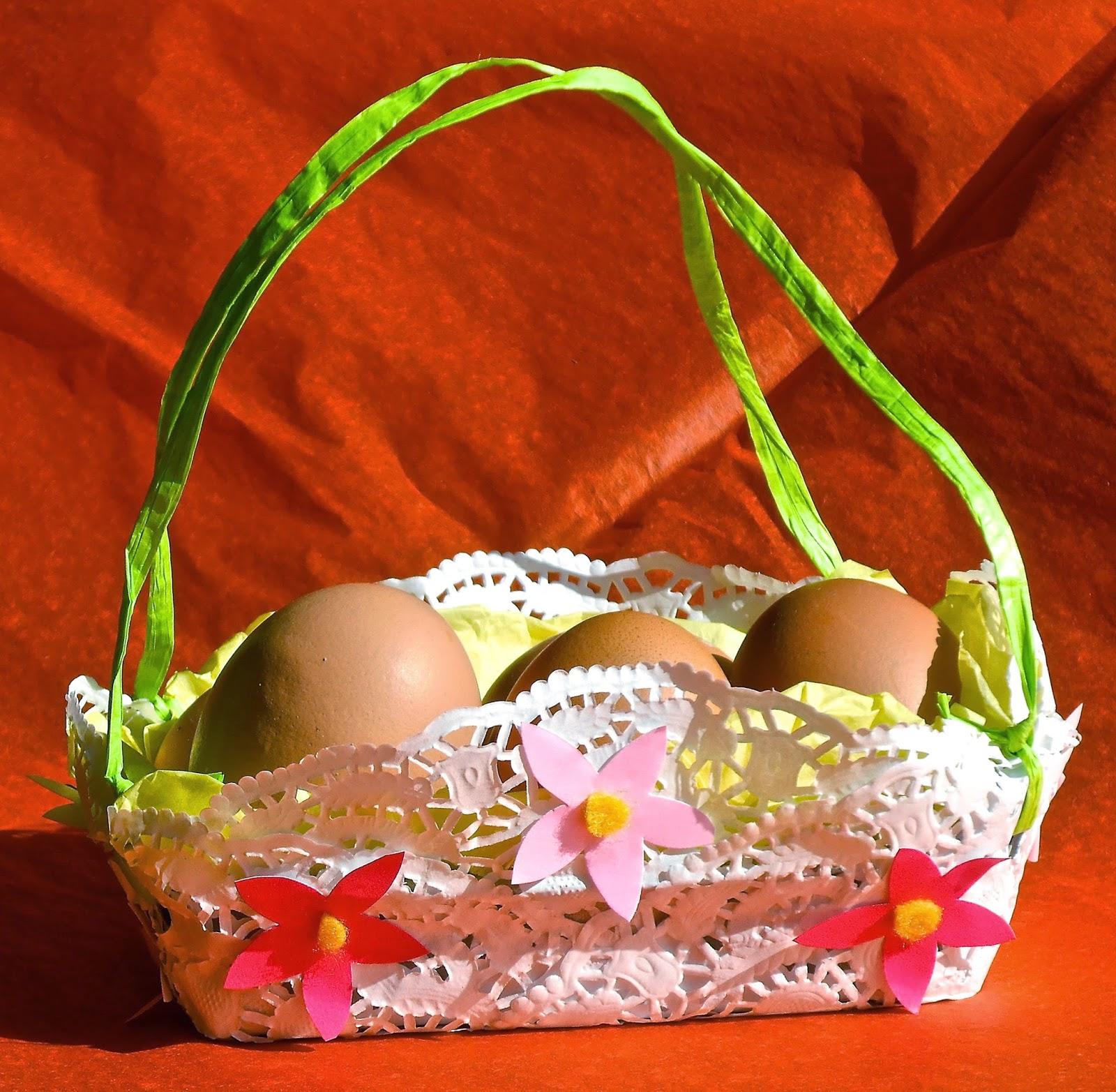 egg box spring basket