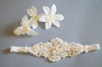 najmodniejsza podwiązka ślubna ręcznie wyszywana koralikami blog modowy netstylistka