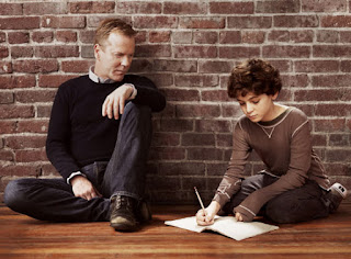 'TOUCH,' SEASON ONE (2012). Kiefer Sutherland stars as a father who tries to protect his intelligent autistic son. Text is © Rissi JC