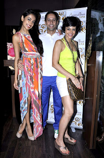Sarah Jane Dias and Mandira Bedi snapped at the Aroma Thai Spa event