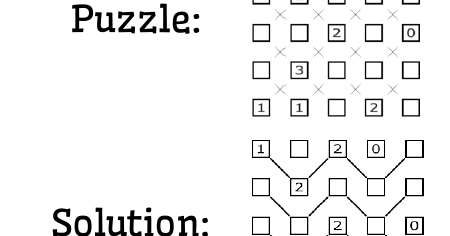 Math = Love: Slants Puzzles from Brainbashers.com