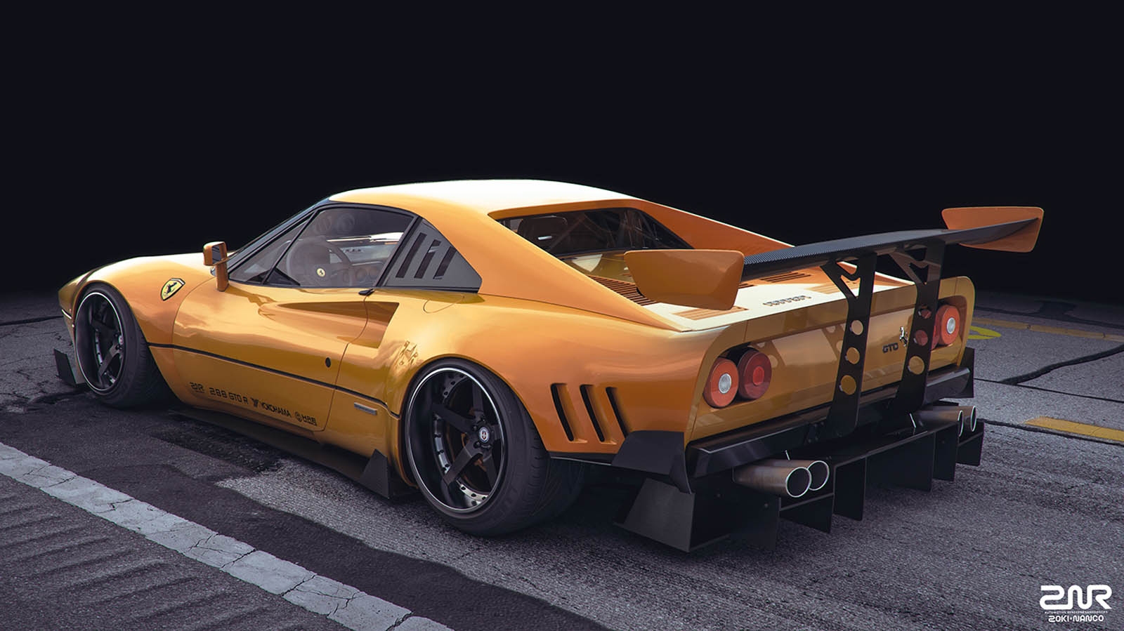 ferrari 288 gto r imagines what might have been if group b had lasted. Black Bedroom Furniture Sets. Home Design Ideas