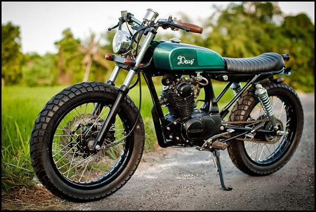 Modifikasi Cafe Racer: Modifikasi Motor Honda CB 100 Bali