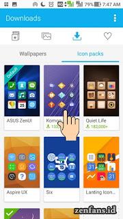 Cara merubah icon di ZenUi 4.0 - pilih icon yang akan di pasang