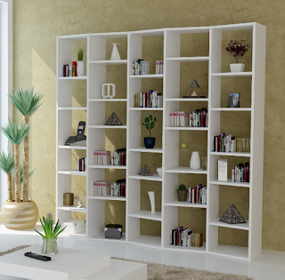 multi simple modular shelving for clean interior view