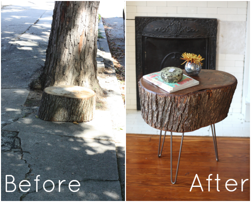 Couchtisch Cantus How To: Diy Stump Table | 17 Apart