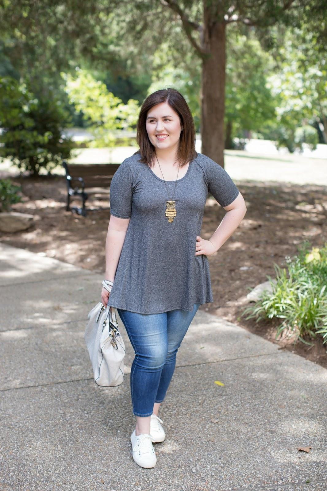 My Lularoe Perfect Tee by North Carolina style blogger Rebecca Lately
