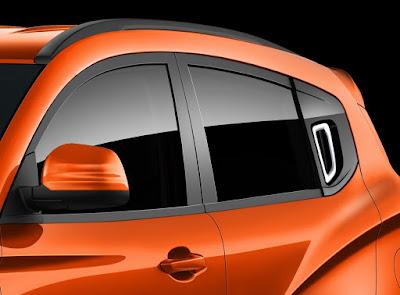 Mahindra KUV 100 window mirror pics