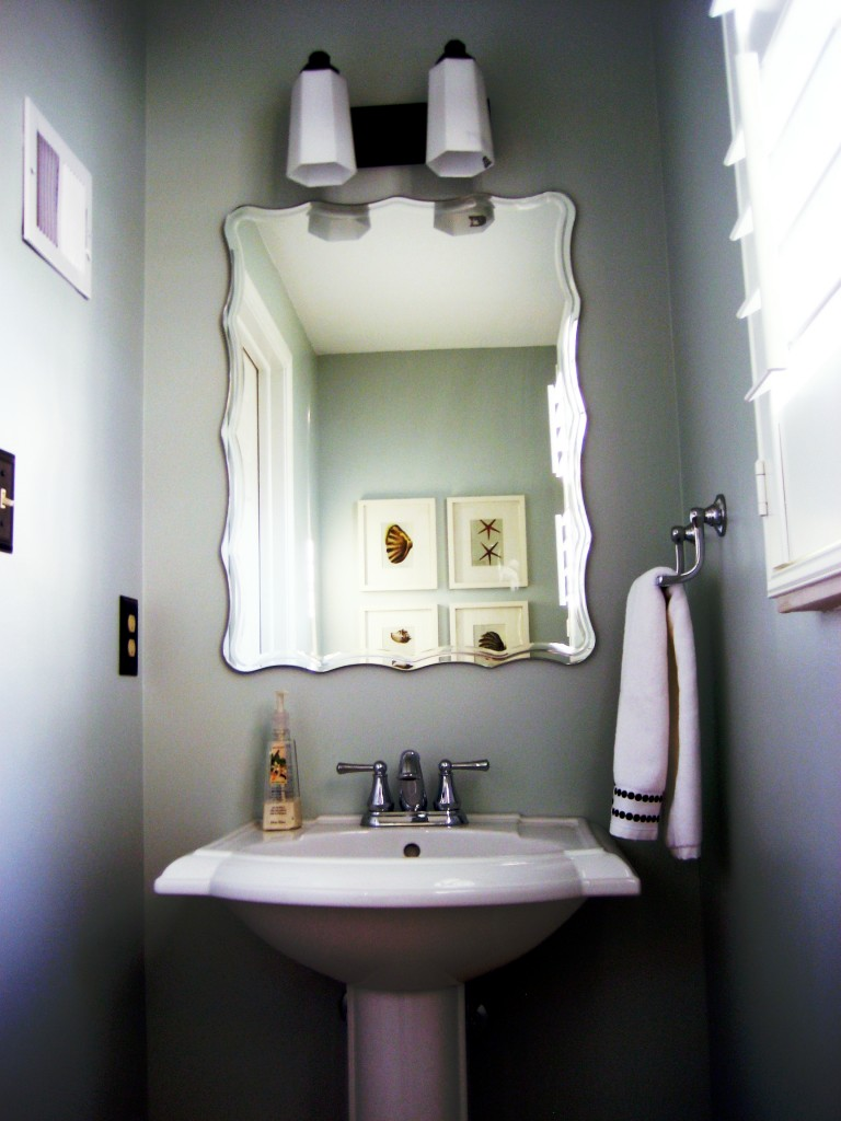 Weekend tweaks powder room inspiration pictures - How to decorate a half bath ...