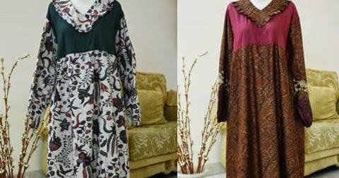 15 Model Baju Gamis Batik Untuk Orang Gemuk Pendek 2017
