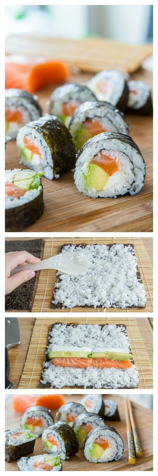 ★★★★☆ 7561 ratings | Homemade Sushi #HEALTHYFOOD #EASYRECIPES #DINNER #LAUCH #DELICIOUS #EASY #HOLIDAYS #RECIPE #Homemade #Sushi