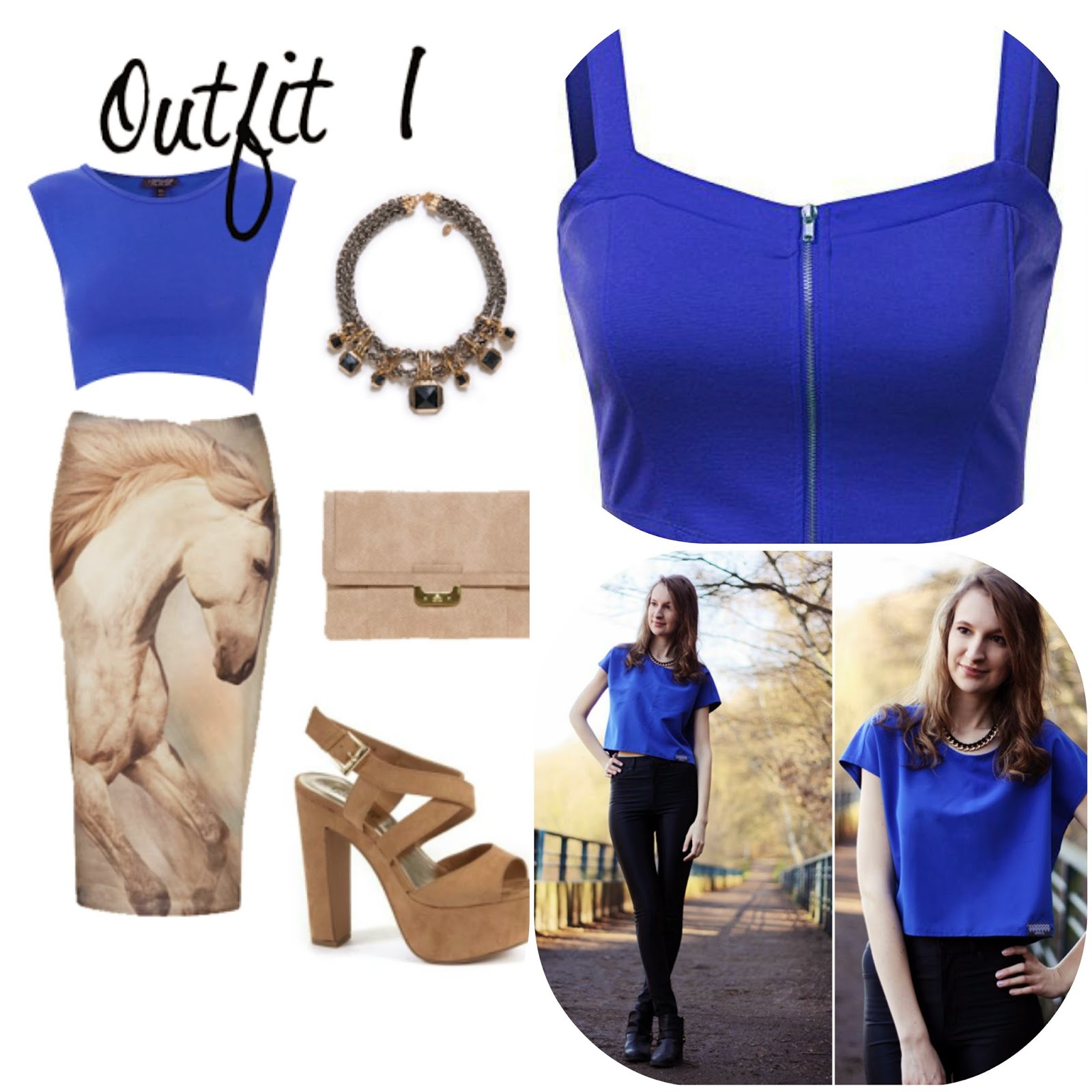 How to wear blue crop top, how to style blue crop top, blue fashion style