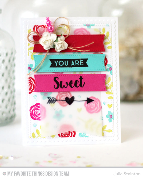 You Are Sweet Card by Julia Stainton featuring So Much Love stamp set and the Blueprints 13, Blueprints 20, and Blueprints 27 Die-namics #mftstamps