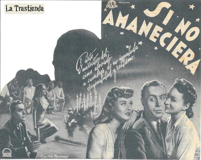 Programa de Cine - Si No Amaneciera - Charles Boyer - Olivia de Havilland - Paulette Goddard
