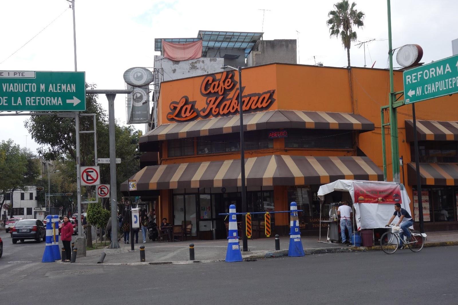 Cafe La Habana Mexico City Menu