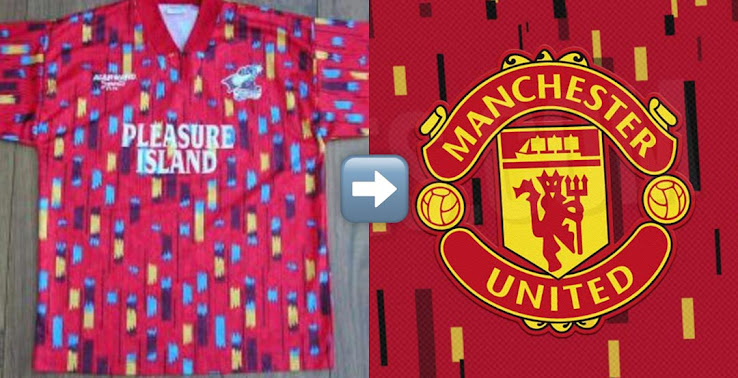 Man Utd 20 21 Home Kit Design Parallels To 1990s Kit Of Scunthorpe Closer Look Footy Headlines