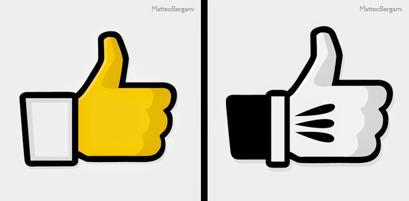 17-Homer-Simpson-&-Mickey Mouse-Matteo-Bergami-Facebook-Hand-Thumbs-Up-Art-www-designstack-co