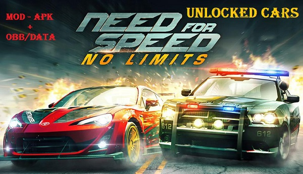 Download Need for Speed No Limits Mod Apk Data Unlocked Cars
