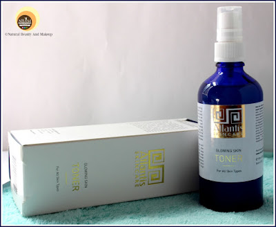 Atlantis Skincare Glowing Skin Toner Product on Natural Beauty And Makeup