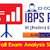 IBPS PO Pre 23rd October 2016 Exam Analysis Expected Cut-Off  - SLOT 2