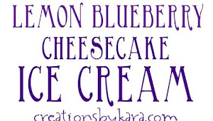 Lemon Blueberry Cheesecake Ice Cream