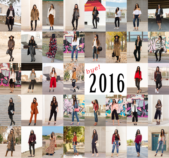Resumen de outfits estilismos del año 2016 de la blogger influencer de moda de Valencia withorwithoutshoes