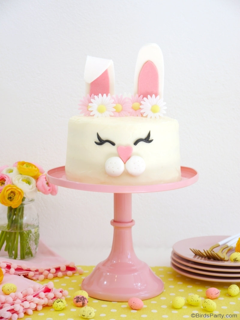 Carrot Layer Cake with Cream Cheese Frosting - delicious, moist cake with condensed milk, cream cheese smooth frosting, perfect for Easter dessert! by BirdsParty.com @birdsparty #cake #carrotcake #easter #eastercake #easterrecipe