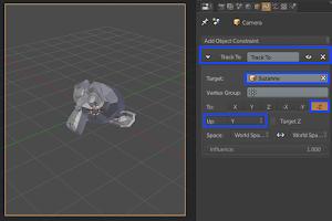 Kamera Mengitari Benda di Blender 3D