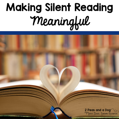 Silent reading is not a time filler activity, it is an important part of any middle school English Language Arts classrooms. Make the most out of your student's independent reading time by trying out these four tips from the 2 Peas and a Dog blog.