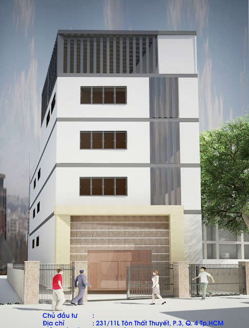 Hợp đồng đo bóc khối lượng và lập dự toán cho Nhà văn phòng 5 tầng - hơn 600 m2 tại Quận 4, Tp HCM
