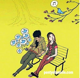 """hey, Look, a BIRD tweets on a tree branch. """"I don't care"""" says the young man. And I Tweet all day long. Yeaah, let's All Tweet together."""
