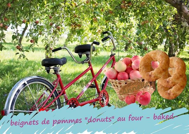 beignets de pommes cuit au four, baked donuts