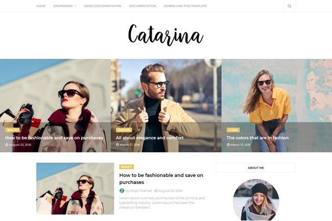Catarina – Responsive Minimal Blogger Template