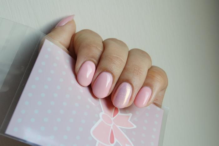 SEMILAC 047 Pink Peach Milk - pastelowy róż ślubne paznokcie hybrydowe