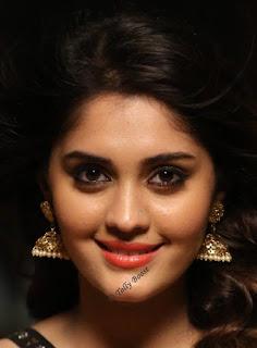 Tollywood Actress Surbhi Beautiful Earring Face Closeup Pictures (4)