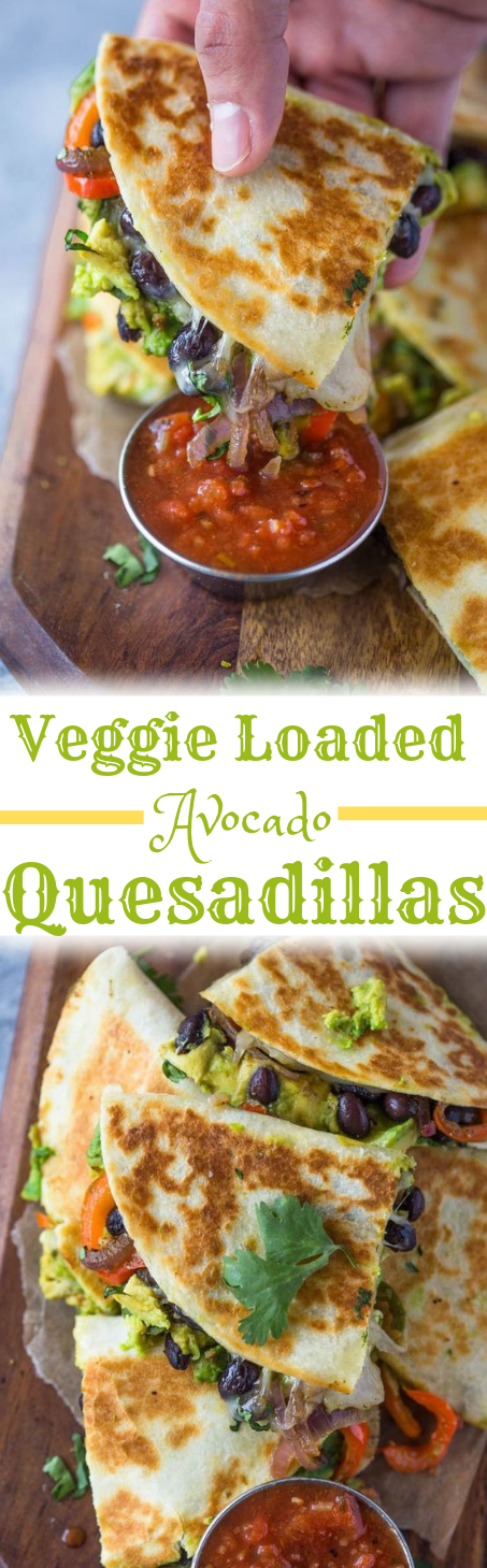 AVOCADO BLACK BEAN QUESADILLAS #quesadillas #vegetarian