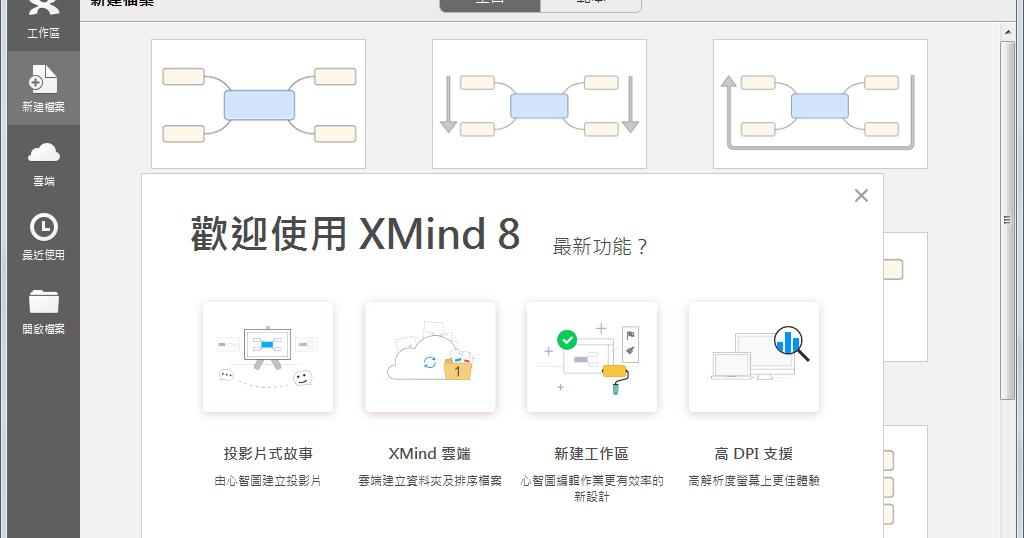 XMind 8 Update 1 (R3.7.1.201612151837) 免安裝中文版 - 取代FreeMind的心智圖軟體 - 阿榮福利味 - 免費軟體下載