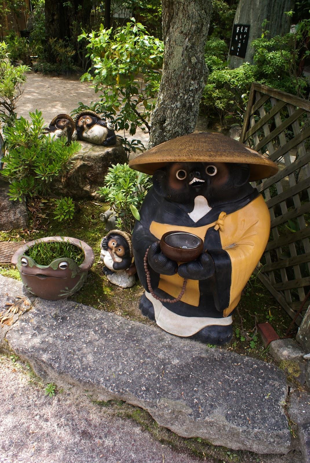 tanuki daisho-in buddhist temple japan miyajima itsukushima