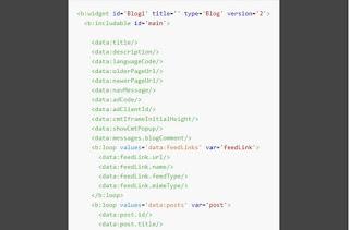 Sự khác biệt giữa các thẻ dữ liệu của widget Blog1 version 1 và 2