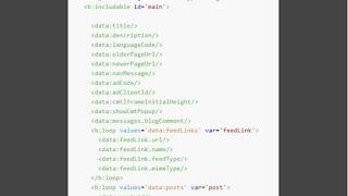 Danh sách tổng hợp các loại thẻ data mặc định trong blogspot