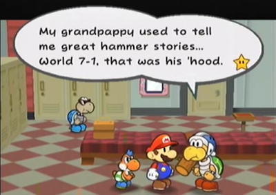 Hamma Hammer Bro. Brother grandfather 7-1 Paper Mario: The Thousand-Year Thousand Year Door GameCube Glitz Pit Glitzville Chapter 3