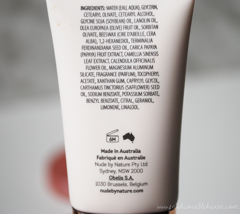 bbloggers, bbloggerca, nude by nature, shoppers drug mart, perfecting primer, review, reaction, bumps, dry skin, applicator, packaging, allergic, face primer, makeup, hydrated, soft skin, ingredients, what's in it, list