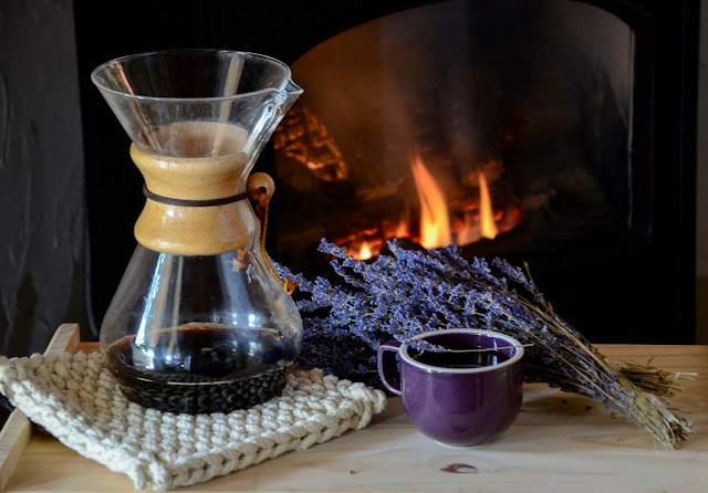 Lavender Coffee made with our organic lavender from Pelindaba Lavender Farm