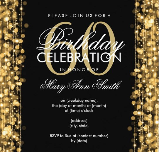 Source Birthdaytemplates 60th Birthday Party Invitations