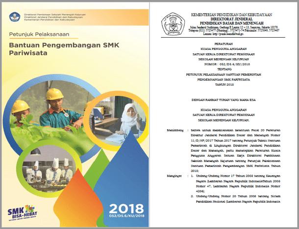 Juklak Bantuan Pengembangan SMK Pariwisata Tahun 2018