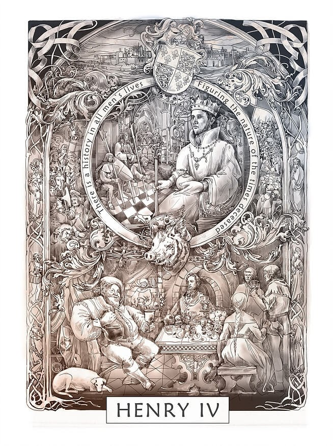 10-Henry-IV-Irina-Vinnik-Intricate-Drawings-for-a-Shakespeare-Calendar-www-designstack-co